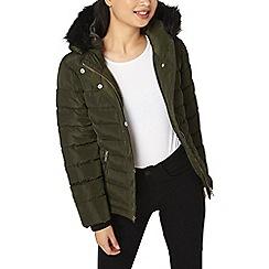 Dorothy Perkins - Petite khaki short puffer jacket