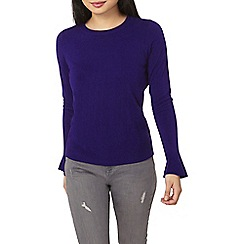 Dorothy Perkins - Petite purple flute sleeves jumper
