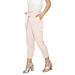 Dorothy Perkins - Petite blush satin tie trousers