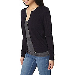 Dorothy Perkins - Petite navy cotton cardigan