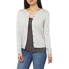 Dorothy Perkins - Petite grey knitted cardigan