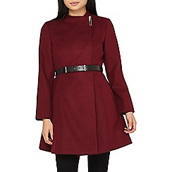 Dorothy Perkins - Petite berry fit and flare coat