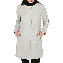 Dorothy Perkins - Petite grey collarless coat