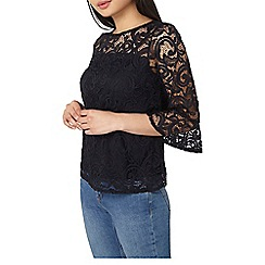 Dorothy Perkins - Petite black lace shift top