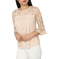 Dorothy Perkins - Petite natural lace shift top