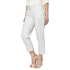 Dorothy Perkins - Petite ivory and grey textured trousers