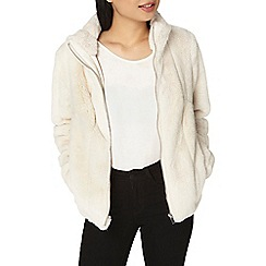 Dorothy Perkins - Petite cream faux fur coat