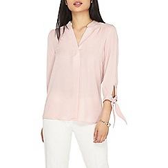 Dorothy Perkins - Petite dusky pink tie sleeves shirt