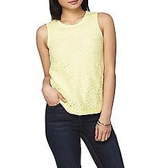 Dorothy Perkins - Petite lemon sleeveless top