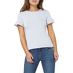 Dorothy Perkins - Petite blue flutter sleeves top