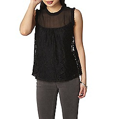 Dorothy Perkins - Petite black lace shell top