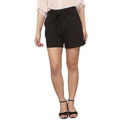 Dorothy Perkins - Petite black tie waist shorts