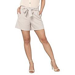 Dorothy Perkins - Petite mink tie waist shorts