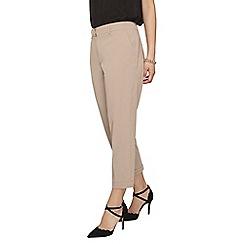 Dorothy Perkins - Petite camel 'naples' ankle grazer trousers