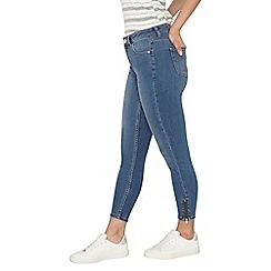 Dorothy Perkins - Petite mid wash zip skinny jeans