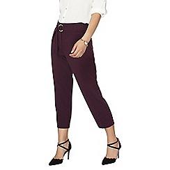 Dorothy Perkins - Petite blackcurrent crepe tie waist trousers