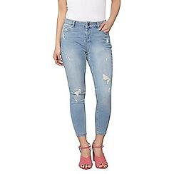 Dorothy Perkins - Petite smokey bleach abrasion skinny jeans