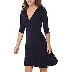 Dorothy Perkins - Petite navy wrap dress