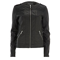 Dorothy Perkins - Tall black collarless biker jacket
