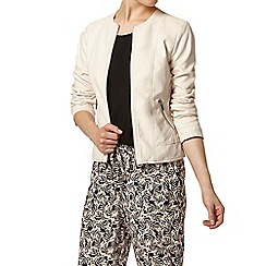 Dorothy Perkins - Blush stitch collarless jacket