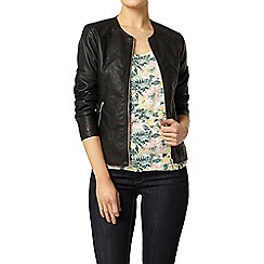 Dorothy Perkins - Black stitch collarless jacket