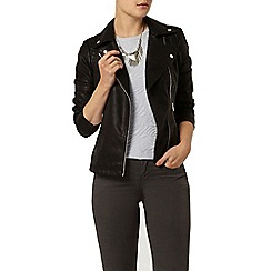 Dorothy Perkins - Black quilted biker jacket