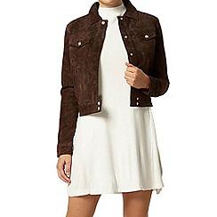 Dorothy Perkins - Premium suede cropped jacket