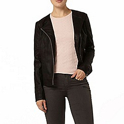 Dorothy Perkins - Black collarless stitch jacket