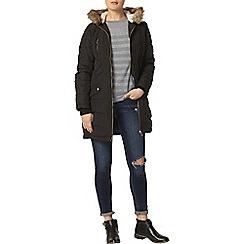 Dorothy Perkins - Navy longline panelled padded jacket