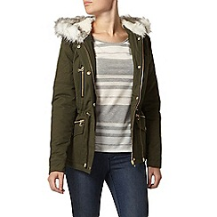 Dorothy Perkins - Green short cotton parka jacket