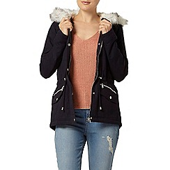Dorothy Perkins - Navy short cotton parka jacket