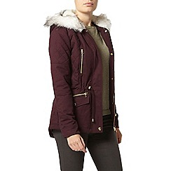 Dorothy Perkins - Raisin short cotton parka jacket