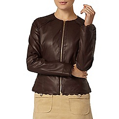 Dorothy Perkins - Laser cut faux leather jacket