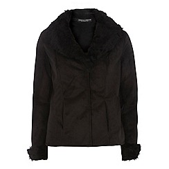 Dorothy Perkins - Black faux shearling jacket