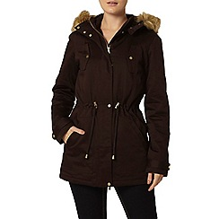 Dorothy Perkins - Faux fur trim hooded parka