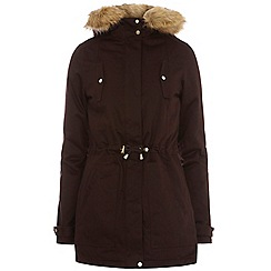 Dorothy Perkins - Tall gold trim cotton parka