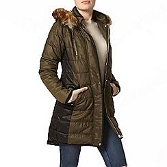 Dorothy Perkins - Khaki colour block puffa jacket