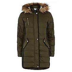 Dorothy Perkins - Tall khaki colourblock padded jacket