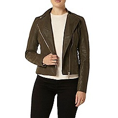 Dorothy Perkins - Textured faux leather biker