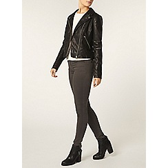 Dorothy Perkins - Black faux leather biker