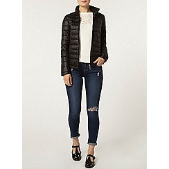 Dorothy Perkins - Black padded jacket with bag