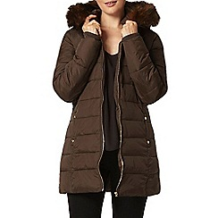 Dorothy Perkins - Chocolate luxe faux fur puffa