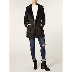 Dorothy Perkins - Black faux shearling coat
