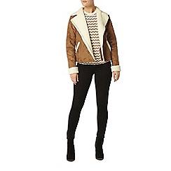 Dorothy Perkins - Faux shearling biker jacket