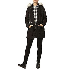 Dorothy Perkins - Charcoal twill quilted parka