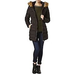Dorothy Perkins - Tall black luxe faux fur padded jacket