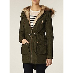 Dorothy Perkins - Tall detachable lining khaki parka