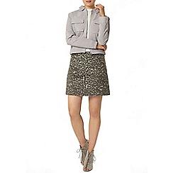 Dorothy Perkins - Premium grey suede jacket