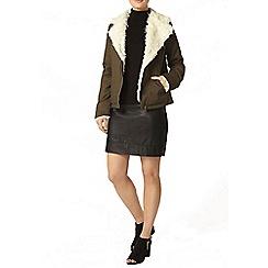 Dorothy Perkins - Khaki twill biker jacket