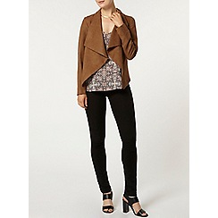 Dorothy Perkins - Tan suedette waterfall jacket
